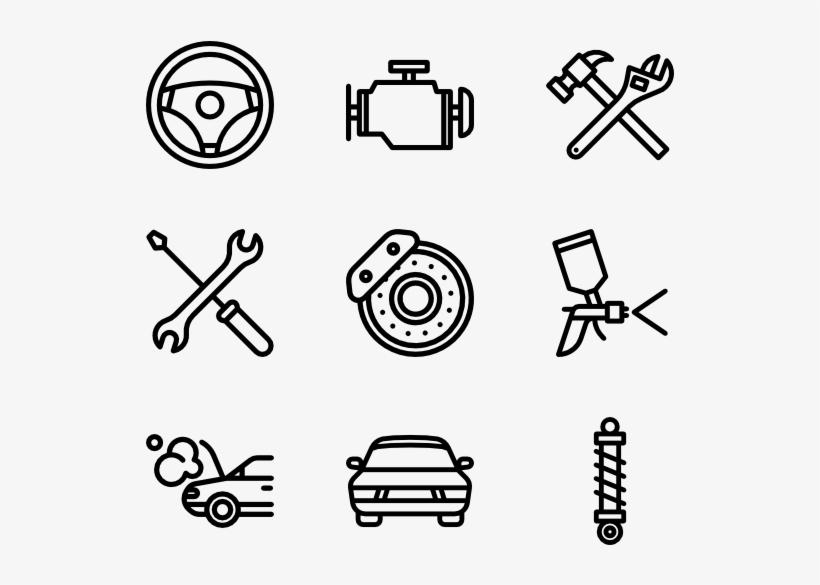 Car Repair 50 Icons - Lab Icons Transparent PNG - 600x564