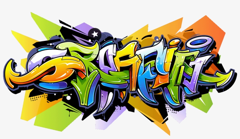 Sticker Graffiti Multi Couleurs Ambiance Sticker Col Graffiti