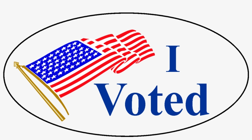 graphic relating to I Voted Stickers Printable named Clear I Voted Sticker Clear PNG - 1300x775