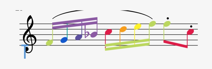 Colorful Music Note Transparent Background Download Treble Clef Transparent Png 710x187 Free Download On Nicepng