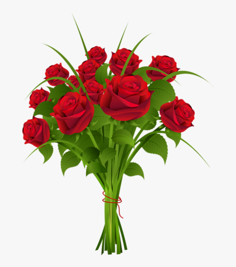 Red Flower Clipart Marriage Flower Flowers Roses Buke Png