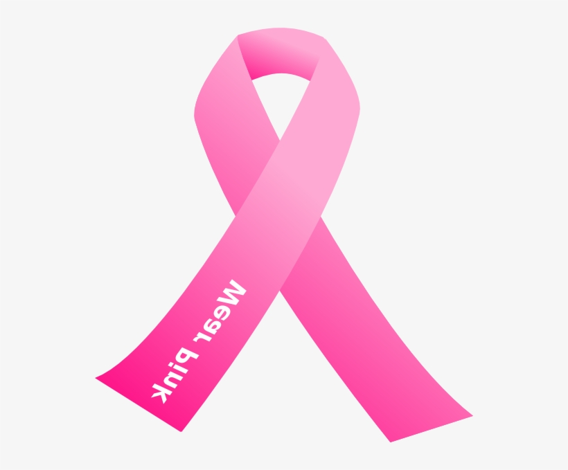 Cancer Awareness Pink Ribbon Clip Art At Clker Com Breast Cancer Ribbon Zta Transparent Png 546x599 Free Download On Nicepng