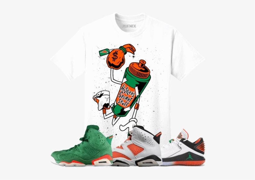 45fbce391c08 Original Rufnek T-shirt Jordan 6 Gatorade Sneaker Tees - Orange And Green Gatorade  Shirt