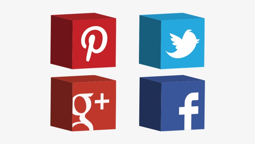Social Networks Icons 3d Cube Free Vector And Transparent