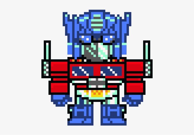 Optimus Prime Optimus Prime Pixel Art Transparent Png