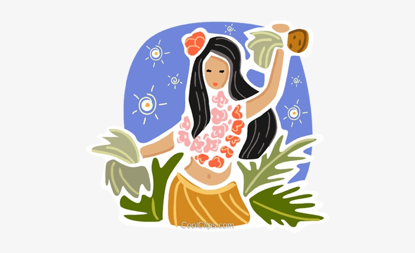 Hawaiian Hula Dancer Royalty Free Vector Clip Art Illustration Hawaiian Transparent Png 480x420 Free Download On Nicepng