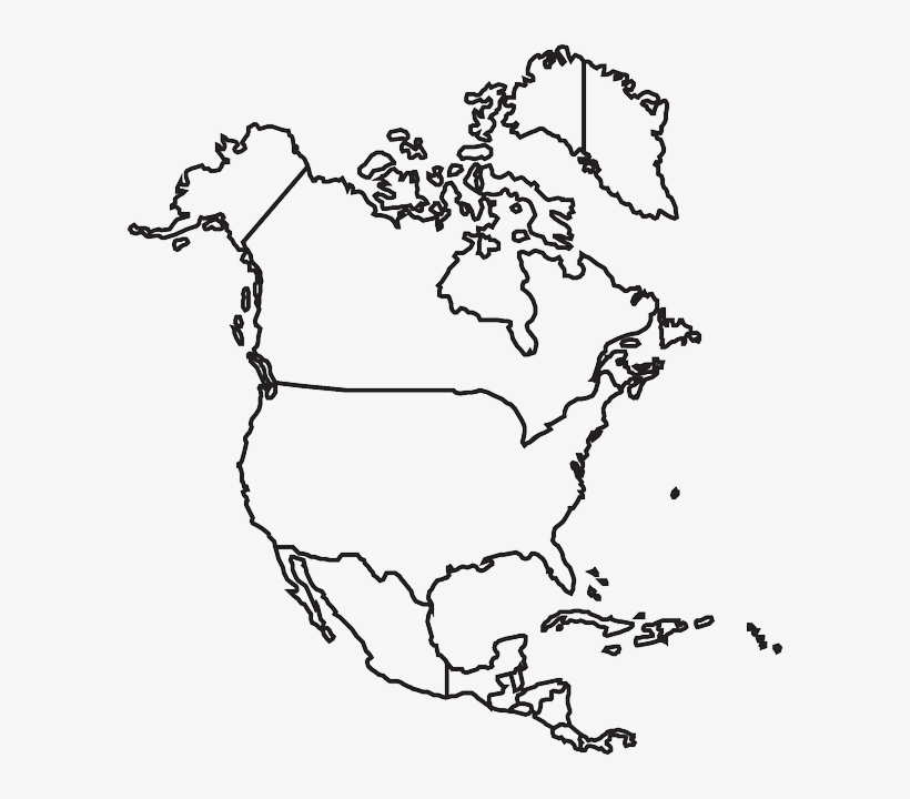 image about Map of North America Printable referred to as North The usa Map PNG Obtain Clear North The us