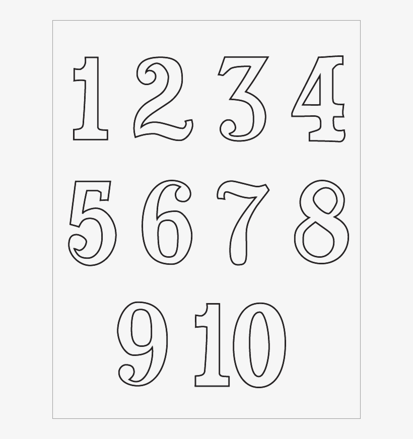 Free Library Numbers 1 10 Clipart Black And White Colouring Page For Number 1 To 10 Transparent Png 612x792 Free Download On Nicepng