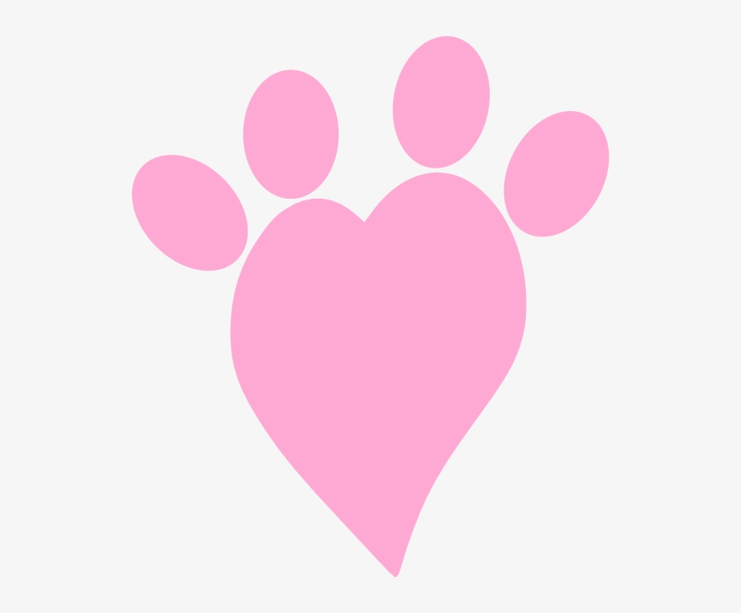 Heart With Paw Print Clipart Image Pink Heart Paw Print Transparent Png 528x599 Free Download On Nicepng Paw print with heart isolated on white background. pink heart paw print transparent png