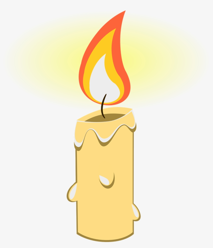 Flame candle. Melting clipart transparent png