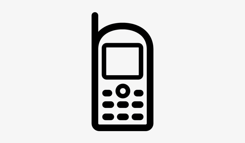 Vintage Mobile Phone Vector Vintage Contact Mobile Icon