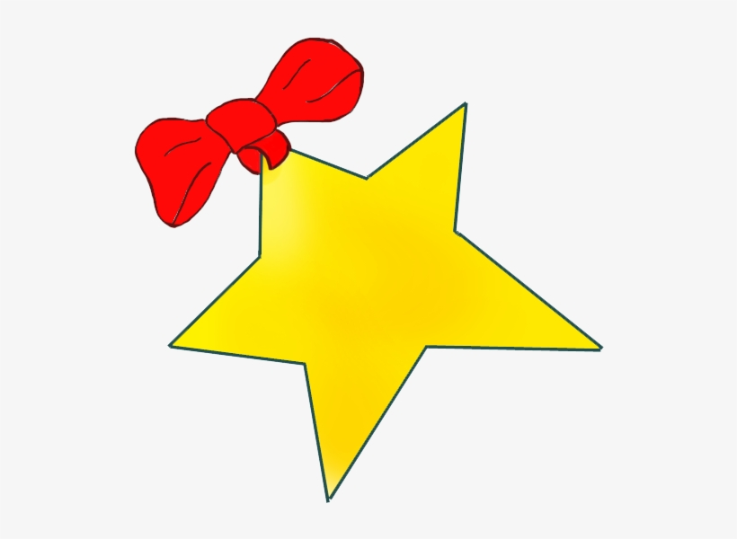 Christmas Star Images Clip Art.Golden Christmas Star With Red Bow Clip Art Transparent