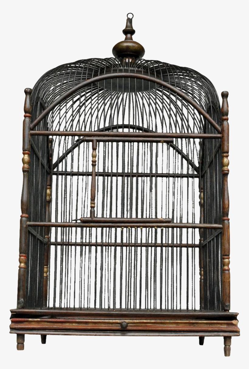 Victorian Wooden Bird Cages Antique