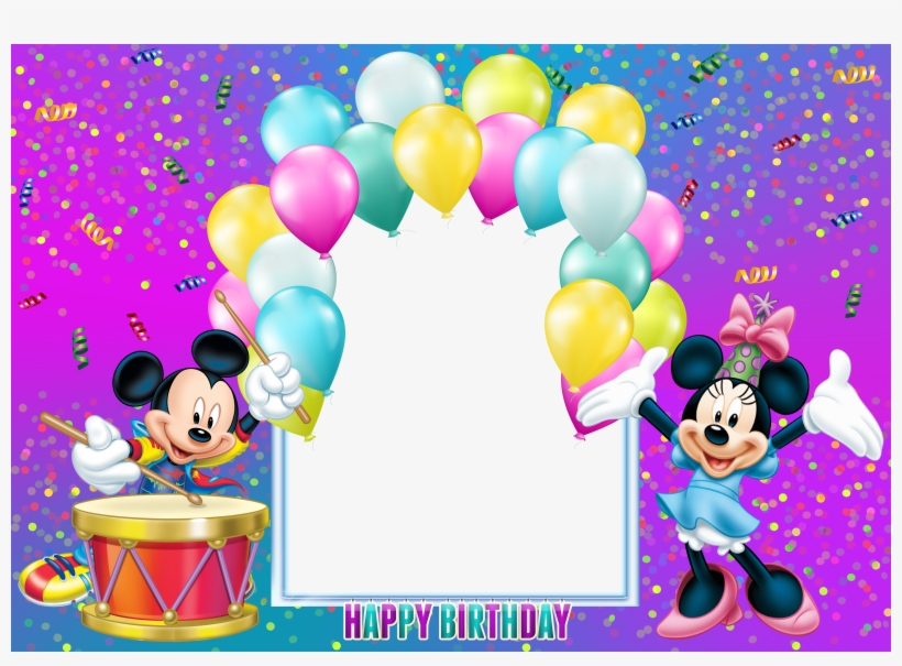 Mickey Mouse Photo Frame Birthday Transparent Png 4500x3105 Free
