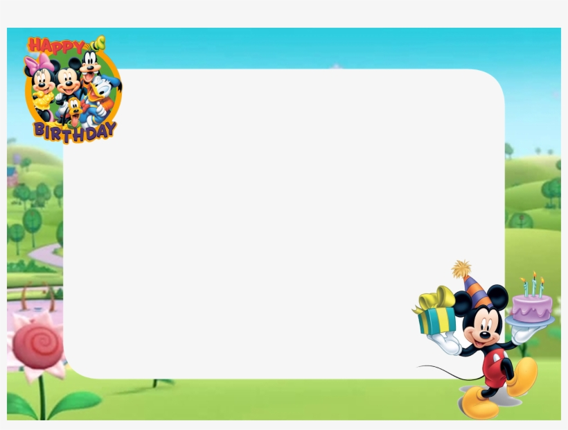 Download Free Printable Mickey Mouse Happy Birthday Png Cartoon