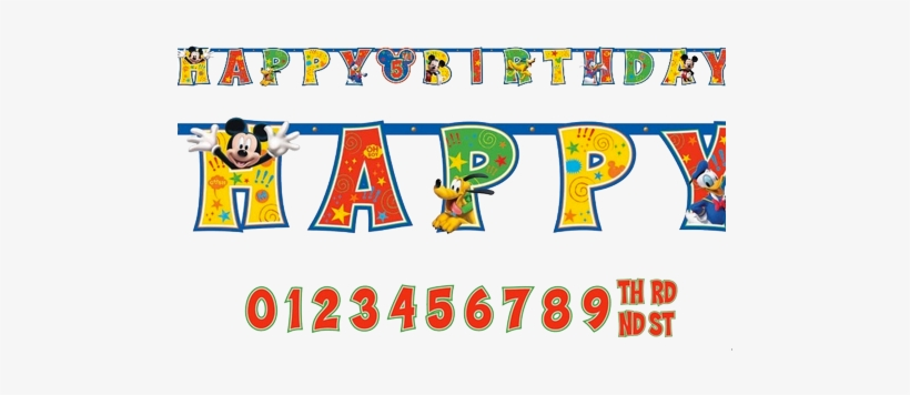 Mickey Mouse Add An Age Jumbo Birthday Banner Farmer Mickey Mouse Birthday Banner Transparent Png 500x302 Free Download On Nicepng