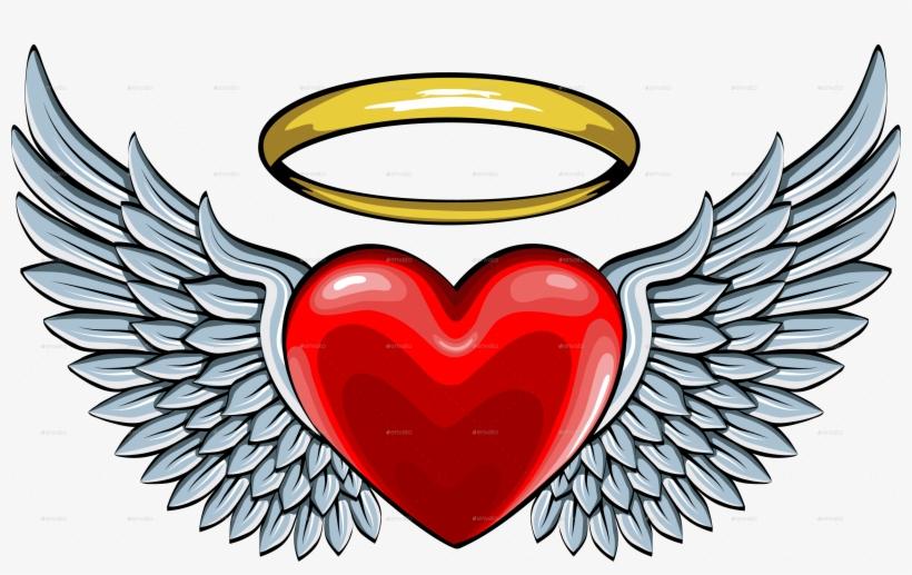 8c4775241 Výsledok Vyhľadávania Obrázkov Pre Dopyt Heart With - Heart With Wings And  Halo