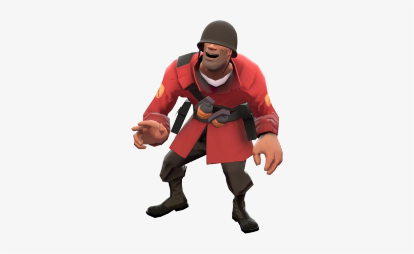 Soldier Taunt Laugh Tf2 Soldier Png Transparent Png 300x424