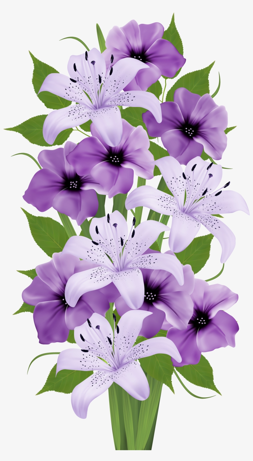 Beautiful Clipart Flower Bouquet Pencil And In Color Full Hd