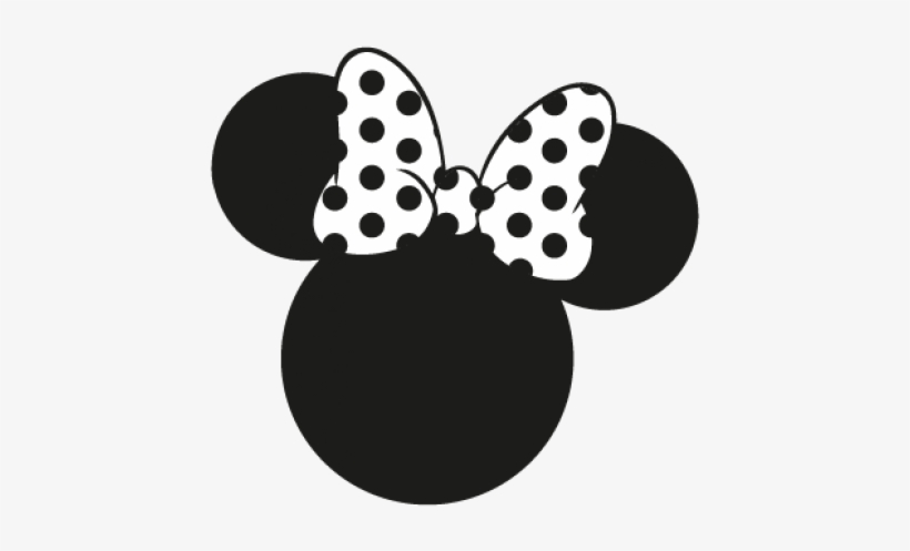 Minnie Mouse Vector Minnie Mouse Ears Black And White Transparent