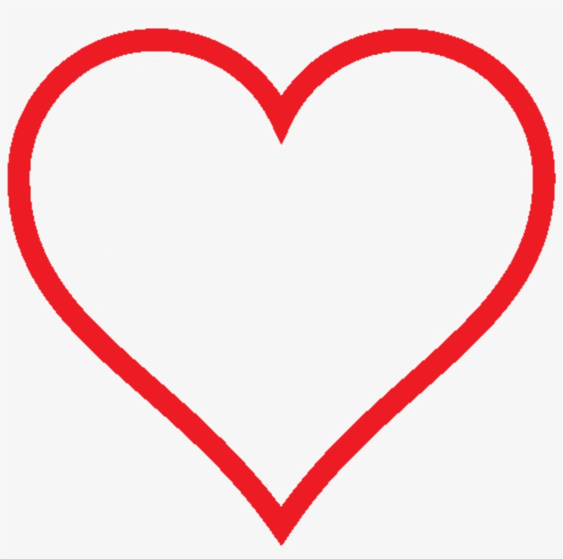 Heart Png Image With Transparent Background Red Heart No Fill