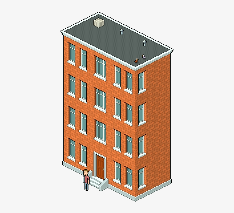 Svg Library Bricks Drawing Easy Pixel Apartment