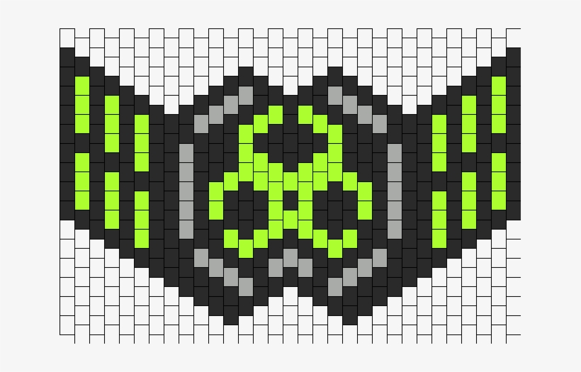 Thicker Ninja Mask Outlined Bead Pattern - Rave Mask Bead Pattern