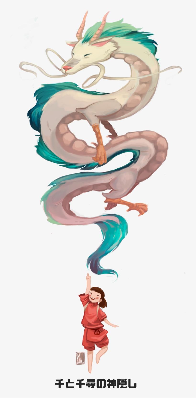 Spirited Away Kohaku And Chihiro Artwork By Sapolendario Viagem De Chihiro Fan Art Transparent Png 1280x1757 Free Download On Nicepng
