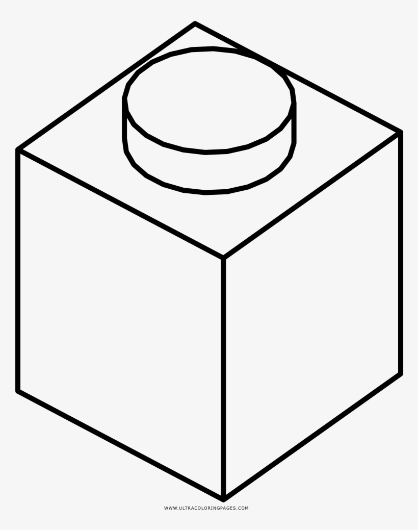 Lego Brick Coloring Page Lego Brick Black And White Transparent