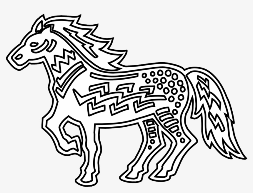 - Coloring Book Clipart Doodle Art Coloring Pages - Black And White Horse  Clipart Transparent PNG - 899x643 - Free Download On NicePNG