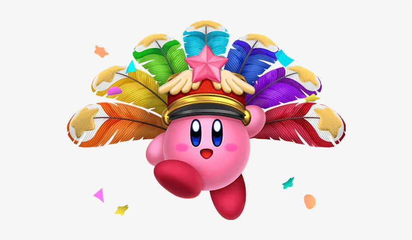 Kirby Wearing Carnival Hat Png - Kirby Star Allies New Abilities  Transparent PNG - 556x399 - Free Download on NicePNG