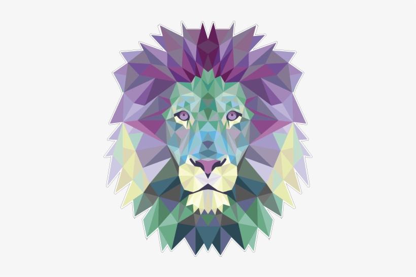 Lion Polygon Poster Para Imprimir Leao Transparent Png 500x500