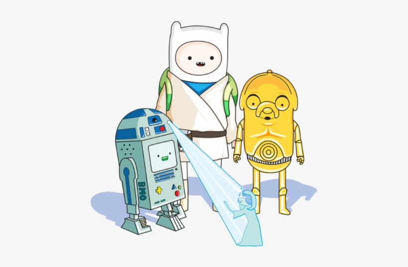 Adventure Time Illustration Star Wars Luke Skywalker Finn Star