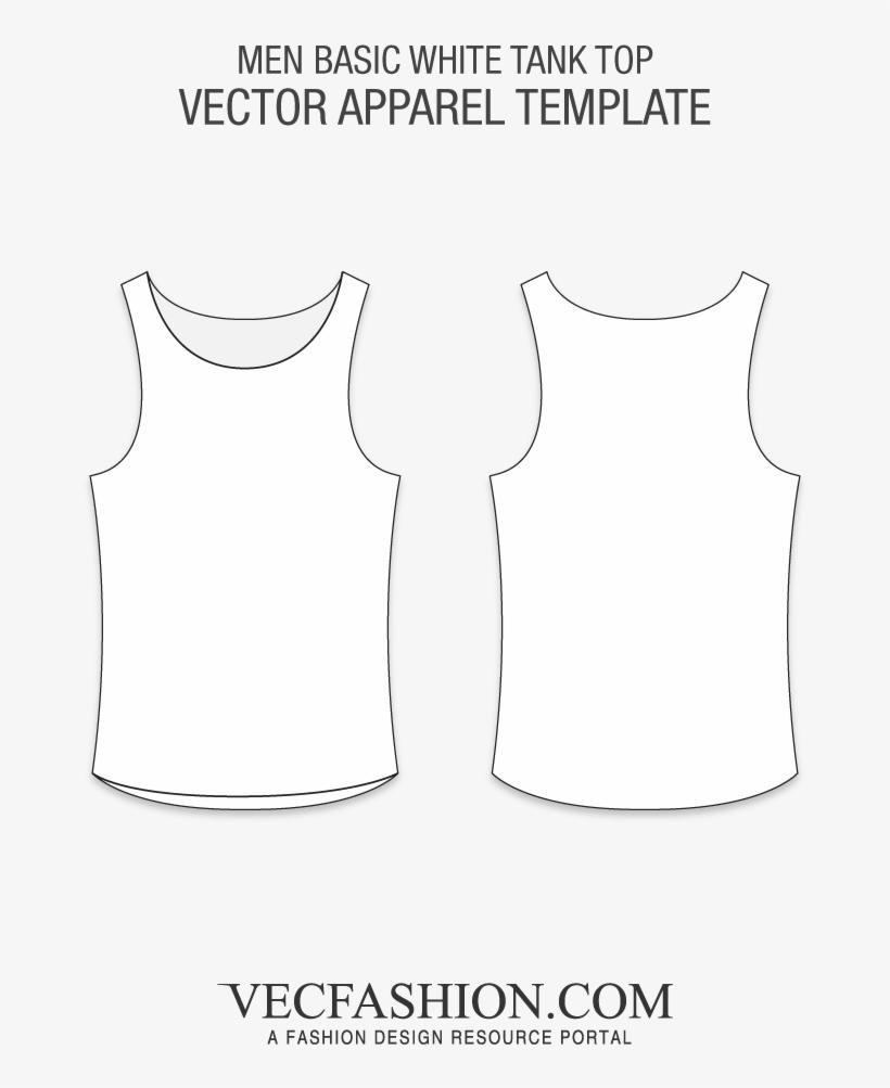 ab6bd4dc3ca827 Basic White Tank Top Vector Template - T Shirt Raglan Vector ...
