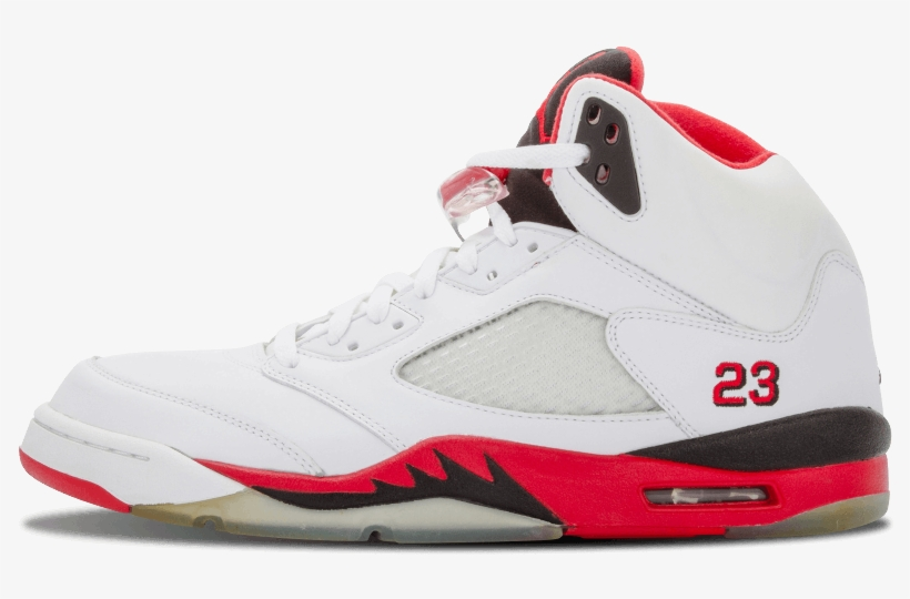 competitive price ffce8 183fe Air Jordans Png - Air Jordan 5 Retro 8 Shoes White   Fire Red 136027