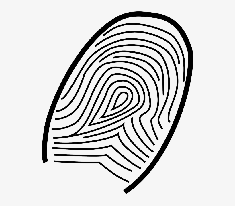 Icon People Fingerprint Print Cartoon Thumb Free Finger Writing Template