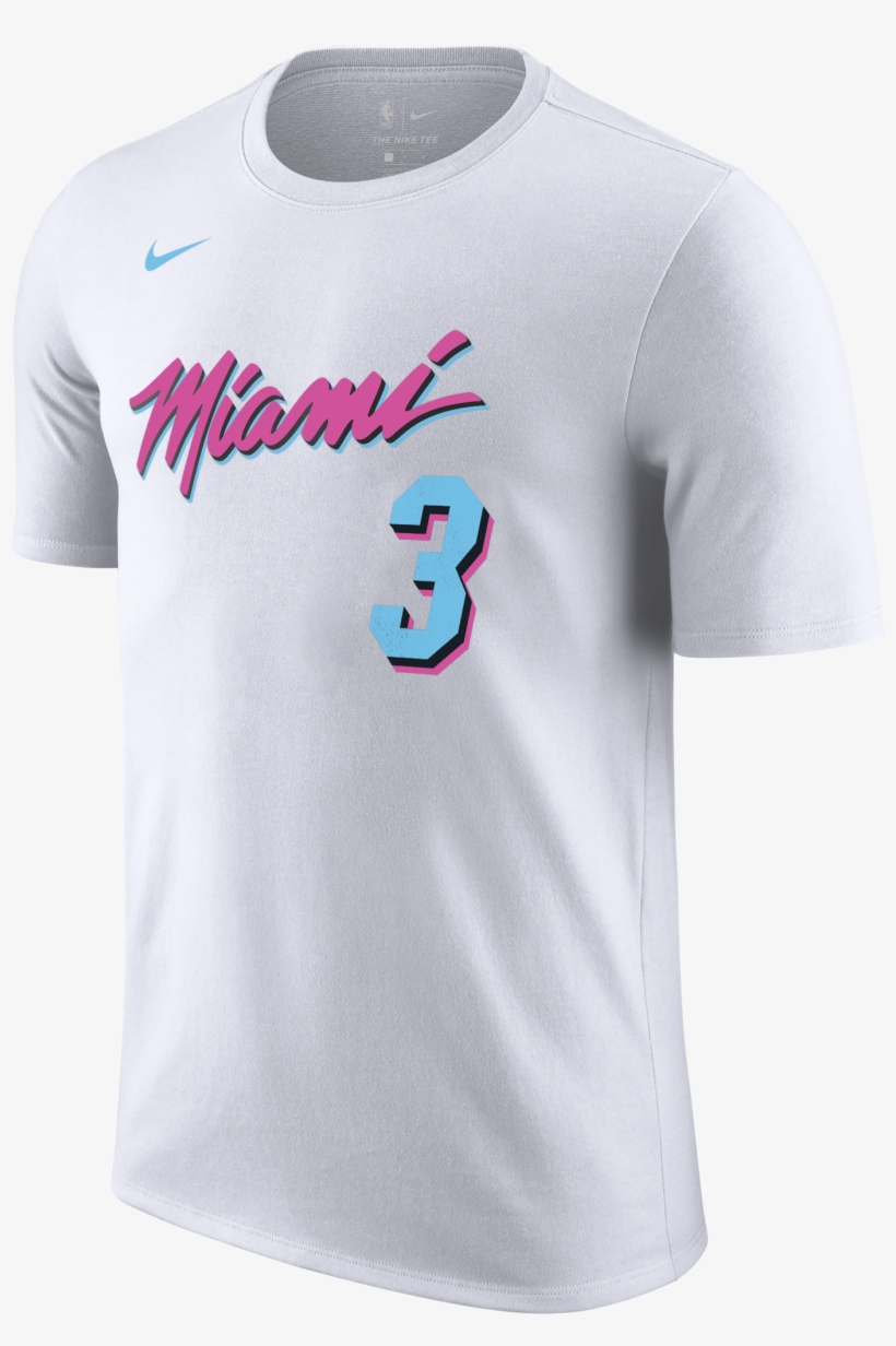 super popular f5681 1243e Dwyane Wade Nike Miami Heat Vice Uniform City Edition ...