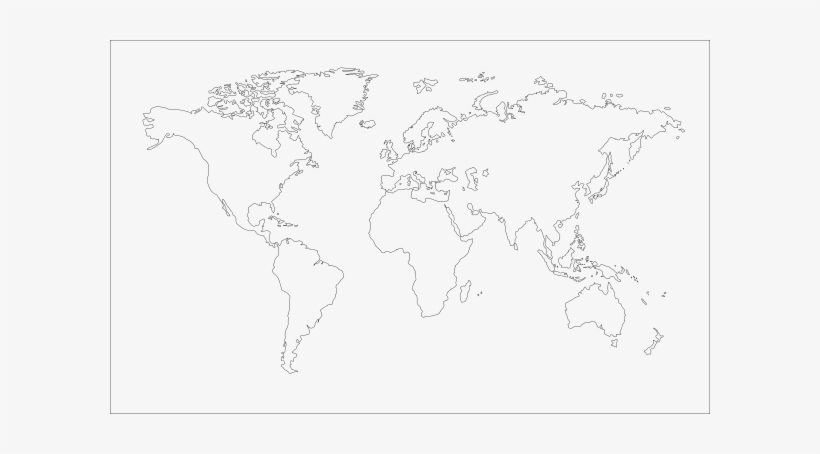 Clipart World Map Outline - World Map Transparent PNG