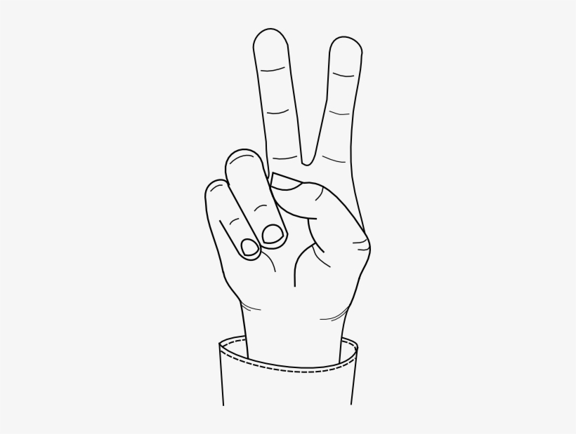 Source Hand Making Peace Sign Drawing Transparent Png 237x539 Free Download On Nicepng Large png 2400px small png 300px. hand making peace sign drawing