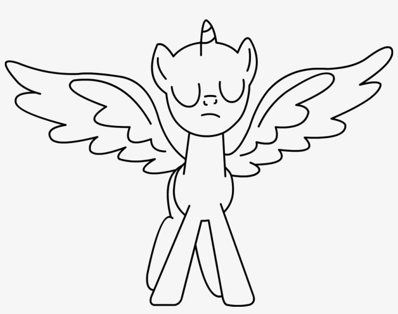 my little pony blank pony coloring pages | My Little Pony Base Coloring Pages 2511397 My Little - My ...