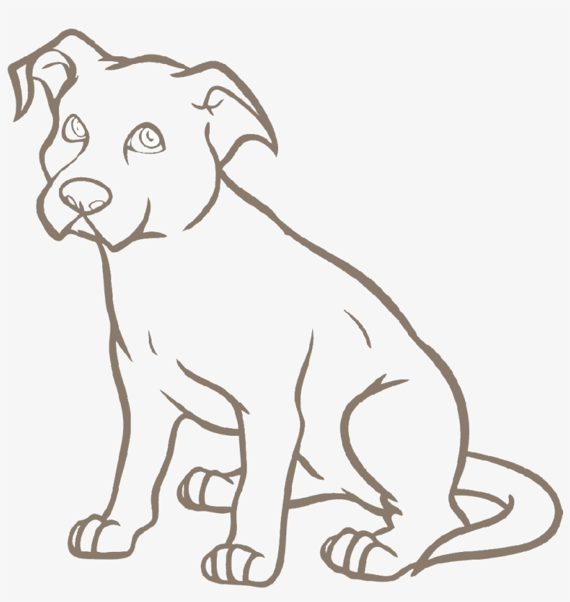 Dog Grooming Pitbull Drawing Easy Cartoon Transparent Png
