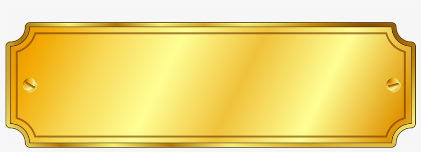 gold vector name plate - gold name plate png transparent png - 960x480