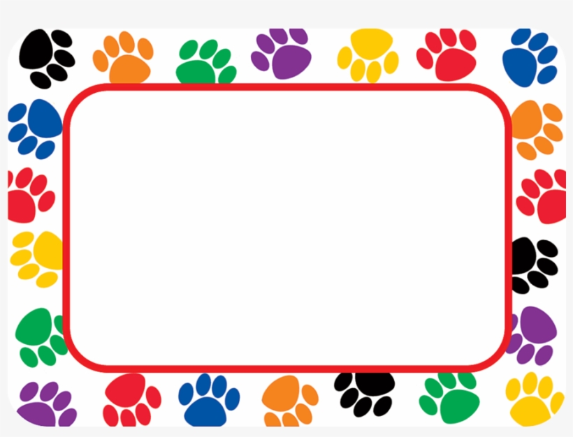 Tcr5168 Colorful Paw Prints Name Tags Labels Image Paw Patrols Name Tags Transparent Png 900x900 Free Download On Nicepng Download free paw patrol png images. tcr5168 colorful paw prints name tags