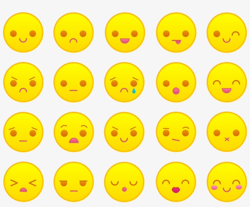 Smileys Yellow Pencil And In Color Cute Angry Face Emoticon