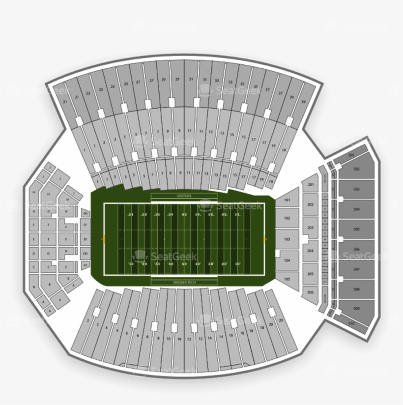 Lane Stadium Seating Chart Map Seatgeek