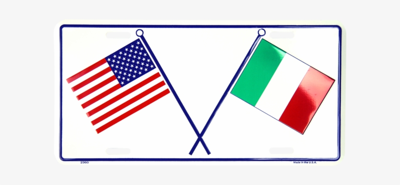 Usa & Italian Flags - American Flag Transparent PNG