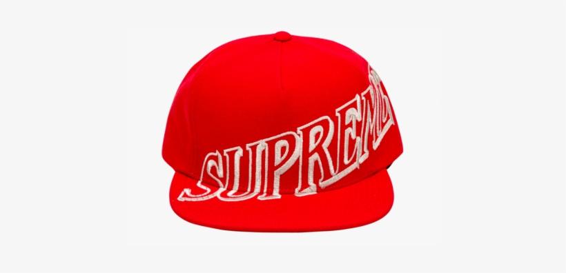 3171cd7f7bb5b Supreme Slant Snapback Hat Red 1 - Supreme Hat Transparent ...