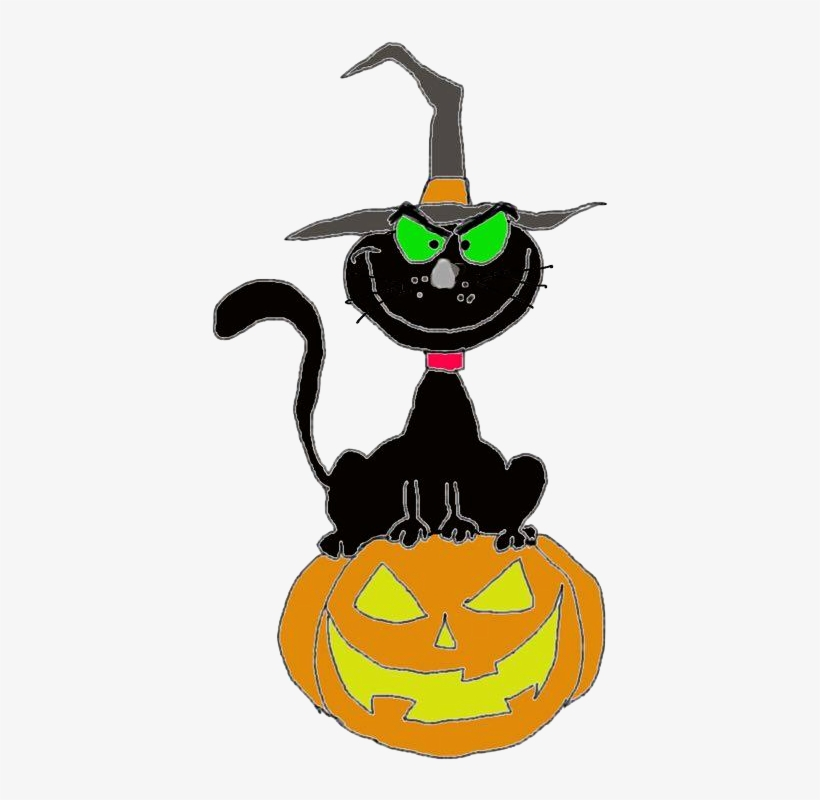 Halloween Pumpkin Clipart Transparent Background.Cat Pumpkin Cute Ghost Free Halloween Clipart Png Format