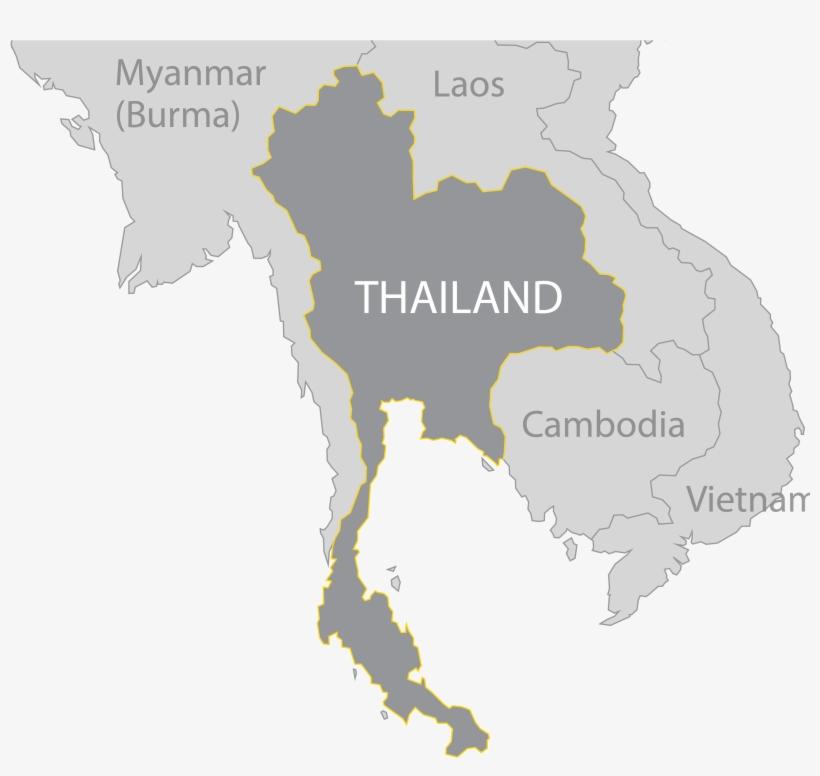Thailand Map - Thailand Map Vector Png Transparent PNG ...
