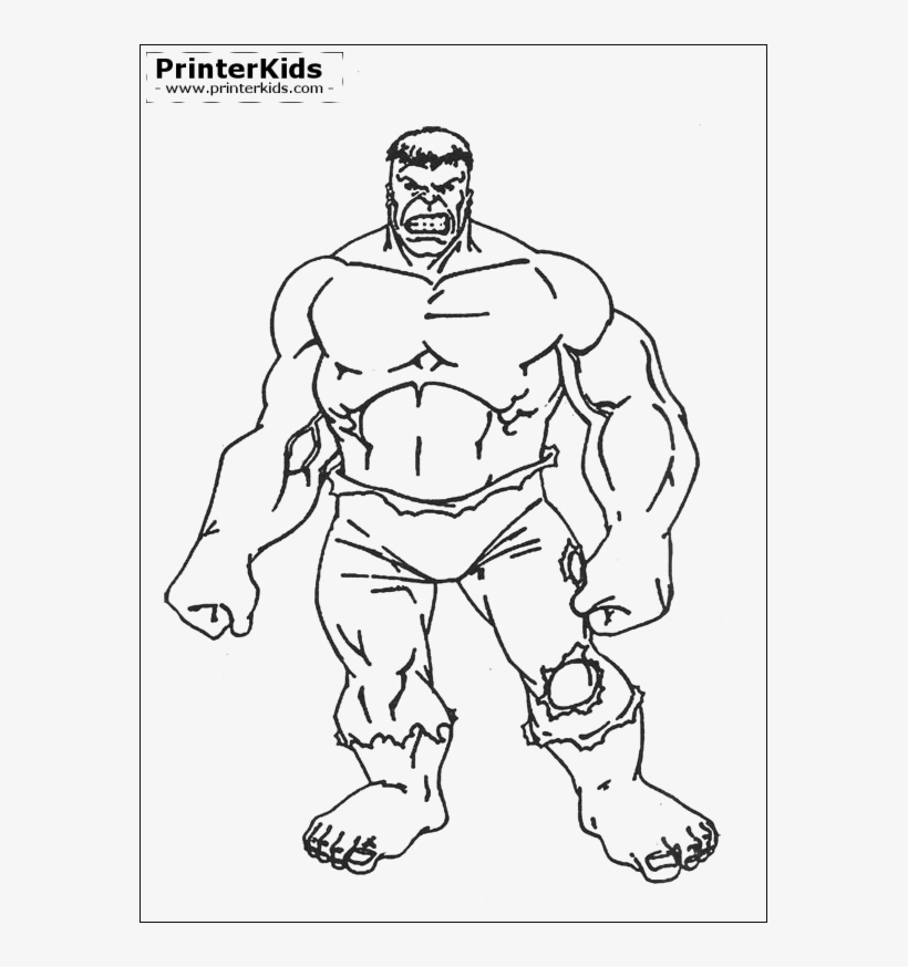 The Hulk Color Page Kids Birthdays Hulk Cartoon Avengers Desenho